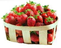 nya isolerade jordgubbar Royaltyfri Fotografi