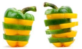 nya isolerade vita peppargrönsaker Fotografering för Bildbyråer