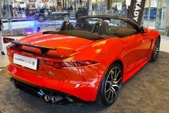 Nya Jaguar bilar, bästa sportbilar Arkivfoto