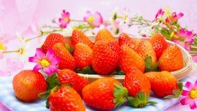 Nya japanska jordgubbar Arkivbild
