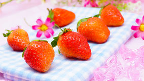 Nya japanska jordgubbar Royaltyfria Bilder