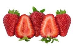 Nya jordgubbar över vit bakgrund Royaltyfri Fotografi