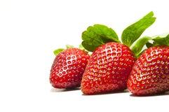 nya jordgubbar Arkivfoton