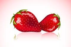 nya jordgubbar vektor illustrationer