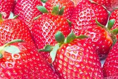 nya jordgubbar för closeup Arkivbilder
