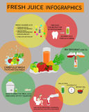Nya Juice Infografics Royaltyfri Bild