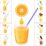 Nya Juice Vector Illustration Vektor Illustrationer