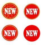 Nya klistermärkear med sprickan. Fotografering för Bildbyråer