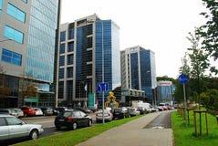 Nya kontor och hus för Vilnius centrum Arkivfoton