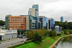 Nya kontor och hus för Vilnius centrum Arkivbild