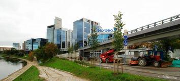 Nya kontor och hus för Vilnius centrum Royaltyfri Fotografi