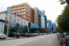 Nya kontor och hus för Vilnius centrum Royaltyfria Foton