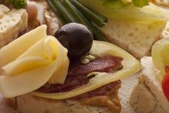 Nya läckra smörgåsar Arkivbilder