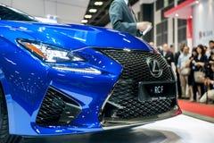 Nya Lexus RC-F på Singapore Motorshow 2015 Fotografering för Bildbyråer