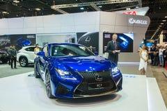 Nya Lexus RC-F på Singapore Motorshow 2015 Arkivfoton