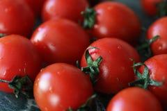 Nya ljusa och saftiga tomater på köket Royaltyfria Foton