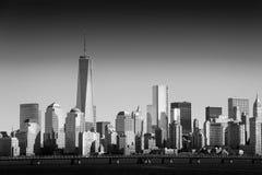 Nya Lower Manhattan och en World Trade Center eller Freedom Tower Arkivbilder