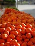 Nya mandarines, apelsinbakgrund Arkivbilder