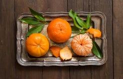 Nya mandarines på ett magasin Royaltyfri Bild