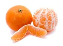 nya mandarinsskivor två Arkivbilder