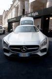 Nya Mercedes-AMG GT 2015 Royaltyfria Foton