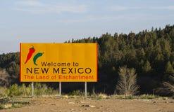 nya mexico att välkomna Arkivbild