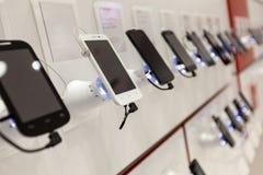 Nya mobiltelefoner Arkivbild