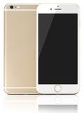 Nya moderna guld- Smartphone Royaltyfri Bild