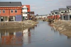 Nya moderna hus i Zoetermeer Nederländerna Arkivfoton