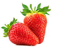 nya mogna jordgubbar arkivbilder