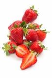 nya mogna jordgubbar Arkivbild