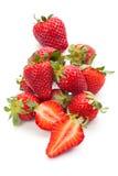 nya mogna jordgubbar Royaltyfri Fotografi