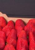 Nya mogna jordgubbar i en ask Fotografering för Bildbyråer
