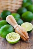 Nya mogna limefrukter Arkivbild