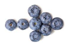 Nya mogna organiska blåbär som isoleras på vit bakgrund Bio blåbär i form för pilpekare banta sunt Royaltyfri Bild