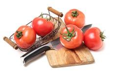 nya mogna tomater Royaltyfria Bilder