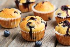nya muffiner Arkivbild