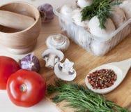 nya mushroomesgrönsaker Royaltyfri Foto