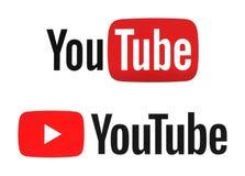 Nya och gamla YouTube logotyper Royaltyfria Foton