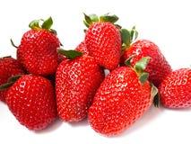 Nya och läckra saftiga jordgubbar royaltyfri foto