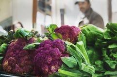Nya och organiska frukter och grönsaker på de lokala bönderna fördärvar Arkivfoto