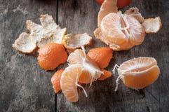 Nya och saftiga mandarinfrukter Fotografering för Bildbyråer