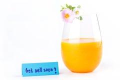 Nya orange fruktsaft-, rosa färg- och vitrosemossblommor och får väl Arkivbilder