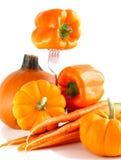 Nya orange grönsaker Royaltyfri Bild