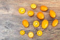 Nya orange Kumquats Fotografering för Bildbyråer