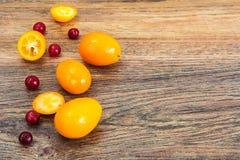 Nya orange Kumquats Royaltyfri Foto