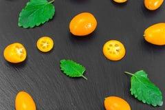 Nya orange Kumquats Royaltyfri Bild