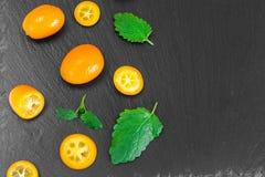 Nya orange Kumquats Arkivfoton