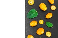 Nya orange Kumquats Arkivbilder