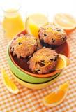 Nya orange muffin Royaltyfri Bild